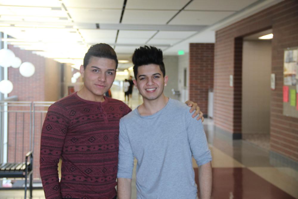 Jose Alcala and Mariano Hernandez balance their use of Spanish and English at Granger High School.