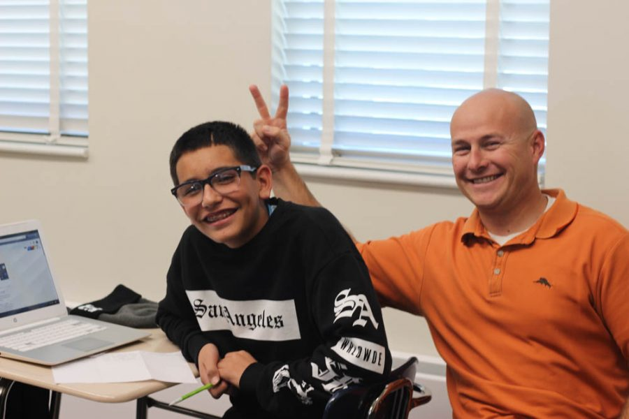 Mr. Schmeling motivates his students to succeed