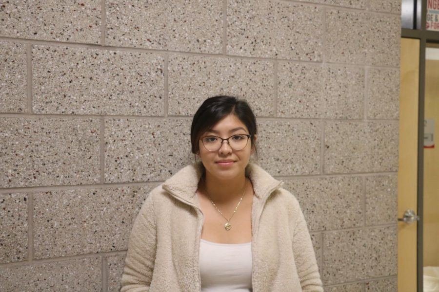 Stephany enjoys her time listening to stories told at the senior center.